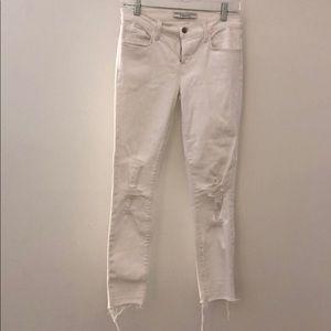 J Brand white distressed jeans sz 26 67005